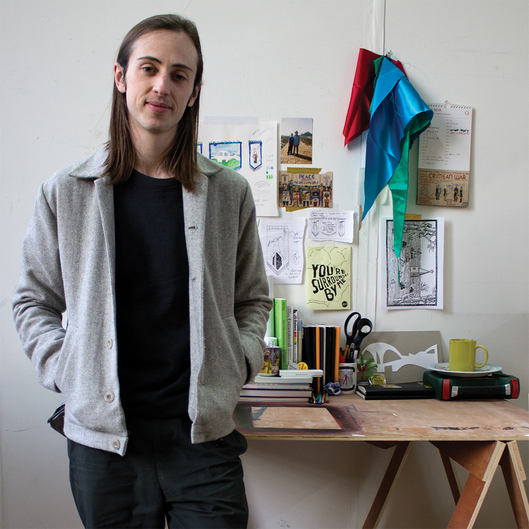 Chris Alton in his studio